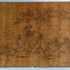 Arte: MAGISTRAL DIBUJO, PAPEL VERJURADO SOBRE TINTA, PRINCIPIOS DEL XVIII CIRCA 1720, GRAN CALIDAD. Lote 36664881