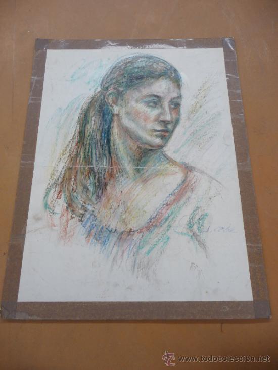 FIRMADO J. COSTA. TECNICA MIXTA SOBRE CARTULINA. (Arte - Dibujos - Contemporáneos siglo XX)