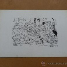 Arte: ANONIMO. DIBUJO HUMORISTICO A ROTULADOR.. Lote 36717535