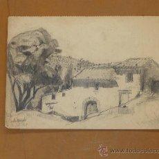 Arte: JORDI SAMSÓ. DIBUJO A LAPIZ. 1969.. Lote 36717745