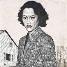 Arte: JENNY SCOBEL (AMERICAN, B.1955) JUST THE SAME . FIRMADO Y DATADO . GRAFITO , CERA Y ACUARELA. Lote 36890633