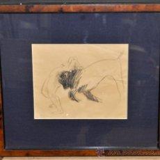 Arte: JORGE CASTILLO CASALDERREY (PONTEVEDRA, 1925) DIBUJO A CARBÓN DEL AÑO 1960. ESBOZO TAURINO. Lote 38422724
