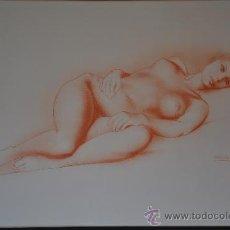 Arte - Dibujo original y firmado de Alberto Duce Baquero autor Zaragoza desnudo - 37019290
