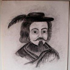 Arte: DIBUJO-RETRATO ORIGINAL A LÁPIZ DEL POLÍTICO DE INCA (MALLORCA) RAMON DESBRULL, POR M.A. RIUTORT . Lote 37316475