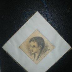 Arte: RETRATO FIRMADO P.G.C. DE NIÑA PRINCIPIOS DEL S XX. Lote 37344199