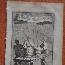 Arte: GRABADO ORIGINAL DE PAUL FOURDRINIER DE 1730 APROX. BREAD TABLE . Lote 37437099