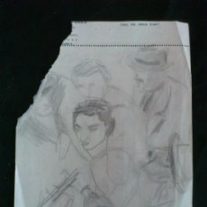 Arte: DIBUJO A LAPIZ.. BOCETO ORIGINAL DEL PINTOR ARAGONES MANUEL LAHOZ VALLE. . Lote 37451328