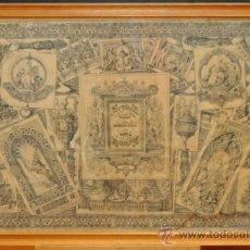 Arte: ORIGINAL DIBUJO TIPO MESA REVUELTA FECHADO DEL AÑO 1850 Y FIRMADO POR FRANCISCO PRUNES. Lote 37596912