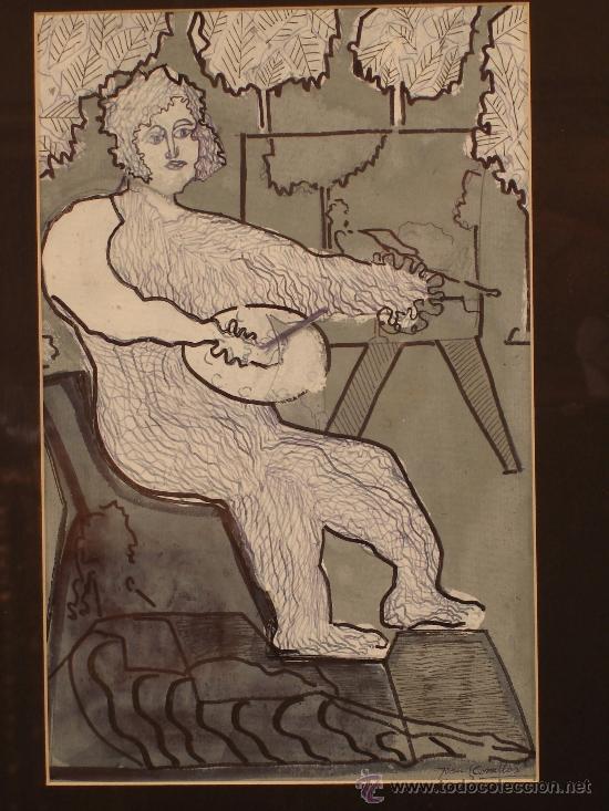 CUADRO JOAN COMELLAS I MARISTANY BARCELONA 1913 - BARCELONA 2000 (Arte - Dibujos - Contemporáneos siglo XX)