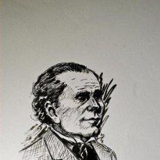 Arte: DIBUJO ORIGINAL A TINTA Y BOLIGRAFO. RETRATO DE JAIME PUJOL (POLÍTICO DE ARTÁ, 1850) . Lote 37842671