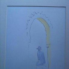 Arte: RAMÓN JESÚS VIVES (BARCELONA, 1939) DIBUJO ORIGINAL COLORES FIRMADO DE 24X31 PAPEL 24X32 CMS. Lote 38069247