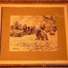 Arte: PRECIOSO DIBUJO A TINTA DE VICENS COSTA Y BASACHS.1957. Lote 39238917