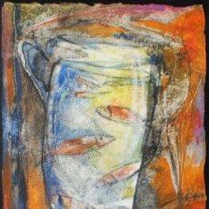 Arte: ANDREU FRESQUET - OBRA ORIGINAL - JARRA CON PECES. Lote 22263188