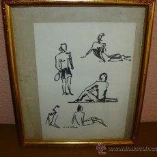 Arte: DIBUJO ROTURADOR - DE LA SERNA - PERSONAJES. Lote 38294148