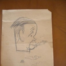 Arte: DIBUJO DE MANUEL DEL ARCO SOBRE PAPEL.. Lote 38327099