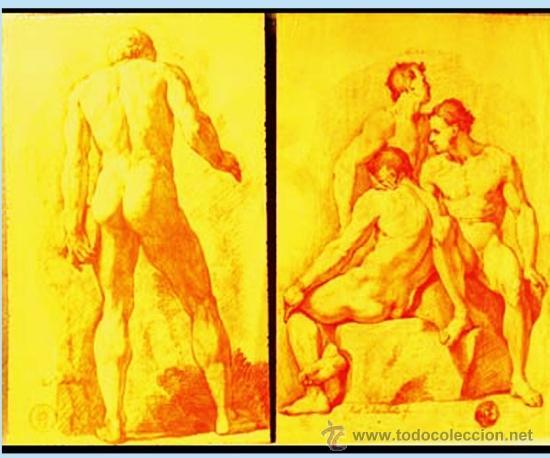 MICHEL, ROBERTO (1721-1786) COLECCION DE ACADEMIASDIBUJADAS AL NATURAL. F.N.M.T. (Arte - Dibujos - Antiguos hasta el siglo XVIII)
