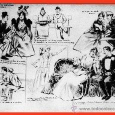 Arte: A. PONS (S. XIX) DIBUJO A PLUMILA S/ PAPEL