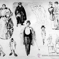 Arte: DIBUJO ORIGINAL ESCUELA ESPAÑOLA FF. S. XIX·¿DONDE PASAN USTEDES LA VELADA? FDO. A. PONS. Lote 38373698