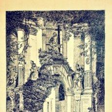 Arte: PRECIOSO PORTAL BARROCO A PLUMILLA, FIRMADO BLANK, GRAN CALIDAD, PORTAL DER KIRCHE DÜRNSTEIN.. Lote 38381781