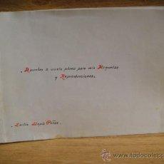 Arte: APUNTES A VUELA PLUMA - D. EMILIO LLOPIS PEÑAS. Lote 38498309