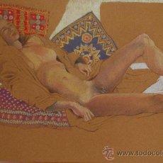 Arte: DESNUDO FEMENINO.- DIBUJO ORIGINAL DE JULIET SCHLUNKE (VER FOTOS ADICIONALES). Lote 38579811