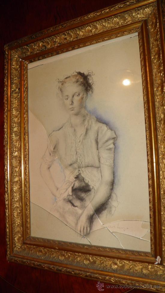 bonito retrato lapiz con color,años 20,de damit - Comprar Dibujos ...