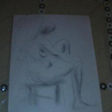 Arte: DIBUJO CARBONCILLO DESNUDO FEMENINO(5). Lote 39051464