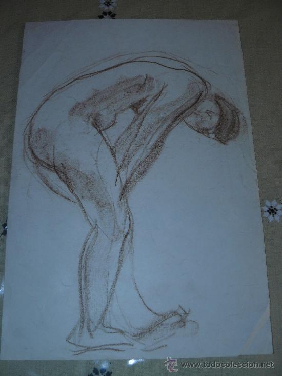 DIBUJO COLOR - DESNUDO FEMENINO(12) (Arte - Dibujos - Contemporáneos siglo XX)