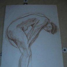 Arte: DIBUJO COLOR - DESNUDO FEMENINO(12). Lote 39051951