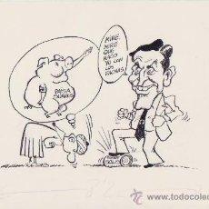 Arte: DIBUJO SATÍRICO CONTRA ADOLFO SUAREZ Y FACHAS PUBLICADO EN 'EL BE NEGRE' (2ª EPOCA).1978.23X16 CM . Lote 39065704