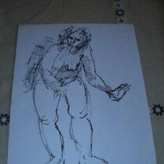 Arte: DIBUJO DESNUDO FEMENINO TINTA (22). Lote 39157057