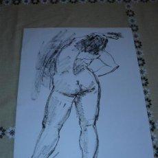 Arte: DIBUJO DESNUDO FEMENINO TINTA (25). Lote 39174003