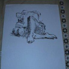 Arte: DIBUJO DESNUDO FEMENINO A TINTA (35). Lote 39206549