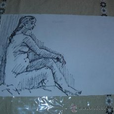 Arte: DIBUJO DESNUDO FEMENINO TINTA (36). Lote 39206711