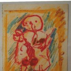 Arte: AGUSTÍN ALAMÁN.- PERSONAJE (DIBUJO A CERAS) (VER FOTOS ADICIONALES). Lote 39208439