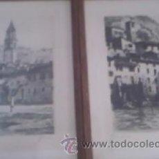 Arte: PRECIOSAS PINTURAS DE MONUMENTOS HECHAS A PLUMILLA,CON FIRMA DE LA AUTORA. FLORIN. Lote 39266523
