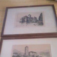 Arte: PRECIOSAS PINTURAS DE MONUMENTOS HECHAS A PLUMILLA,CON FIRMA DE LA AUTORA. FLORIN. Lote 39266566