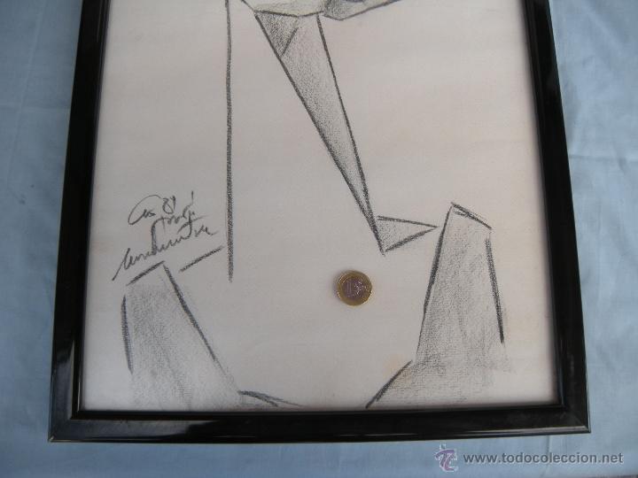 Arte: DIBUJO DE MUJER A CARBONCILLO. - Foto 3 - 39389388