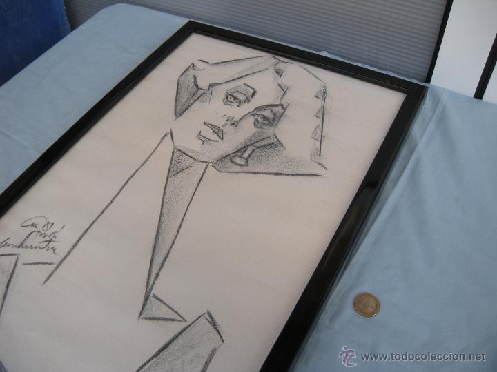 Arte: DIBUJO DE MUJER A CARBONCILLO. - Foto 4 - 39389388