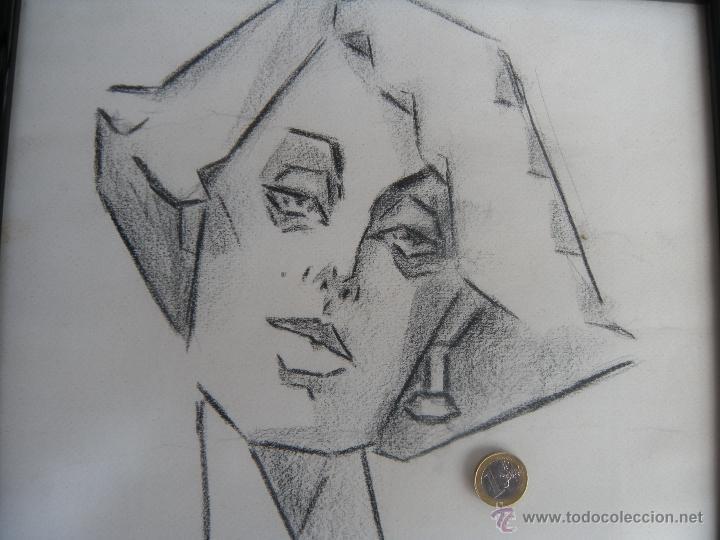 Arte: DIBUJO DE MUJER A CARBONCILLO. - Foto 7 - 39389388