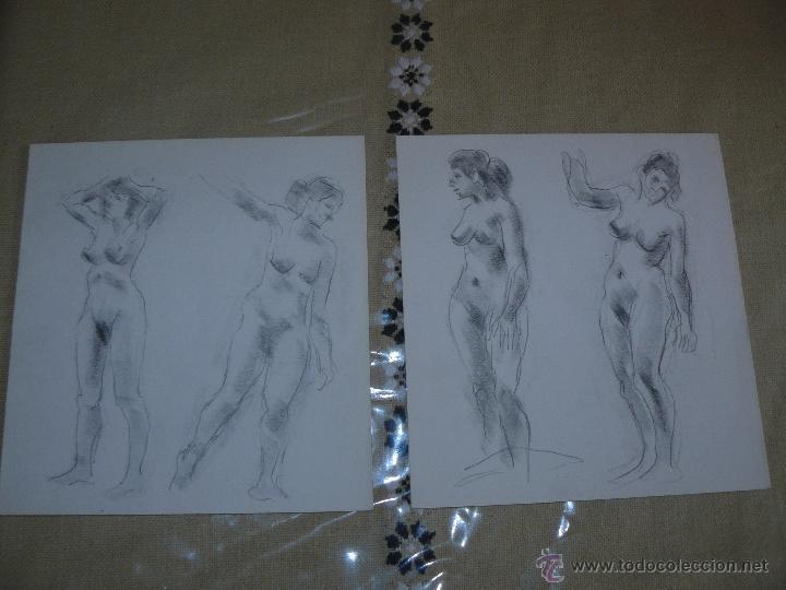 DIBUJO A LÁPIZ DESNUDOS FEMENINOS - B (Arte - Dibujos - Contemporáneos siglo XX)