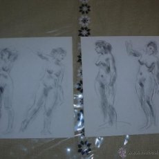 Arte: DIBUJO A LÁPIZ DESNUDOS FEMENINOS - B. Lote 39416120