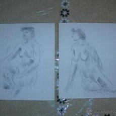 Arte: DIBUJO A LÁPIZ Y CARBONCILLO - DESNUDOS FEMENINOS - I. Lote 39416371