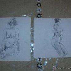 Arte: DIBUJO A LÁPIZ Y CARBONCILLO - DESNUDOS FEMENINOS - K. Lote 39416465