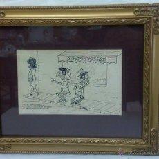 Arte: VIÑETA O DIBUJO HUMORÍSTICO. FIRMADO.( CHAIMON.....?). Lote 30350556
