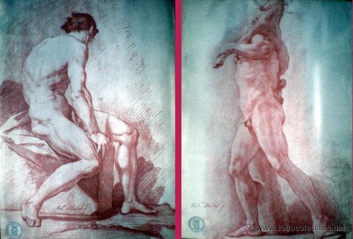 Arte: MICHEL, ROBERTO (1721-1786) Coleccion de AcademiasDibujadas al Natural. F.N.M.T. - Foto 3 - 38369044