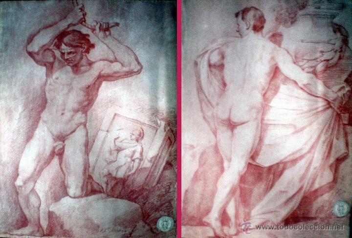 Arte: MICHEL, ROBERTO (1721-1786) Coleccion de AcademiasDibujadas al Natural. F.N.M.T. - Foto 7 - 38369044