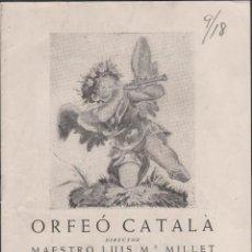 Arte: C6-DIBUIX DE JOSEP OBIOLS - PROGRAMA DEL CONCIERTO SINFONICO-CORAL DEL 1 DE NOVIEMBRE DE 1953 - ORF. Lote 39546985