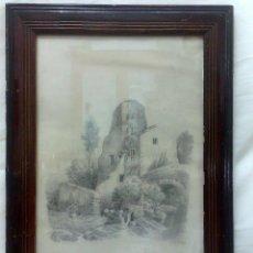 Arte: SIGLO XIX. DIBUJO FECHADO EN 1876, Y FIRMADO J. BORBOLLA. Lote 29000707