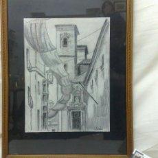 Arte: FIRMADO F.H. LAIN.- CORPUS DE TOLEDO.- DIBUJO, ENMARCADO.. Lote 30710335